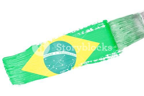 Composite image of brasil national flag