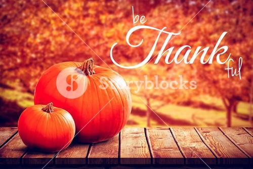 Digital image of happy thanksgiving day text greeting
