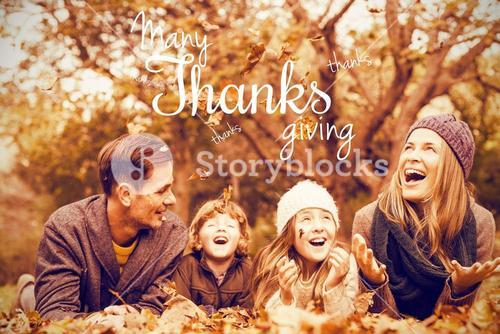 Composite image of happy thanksgiving day message