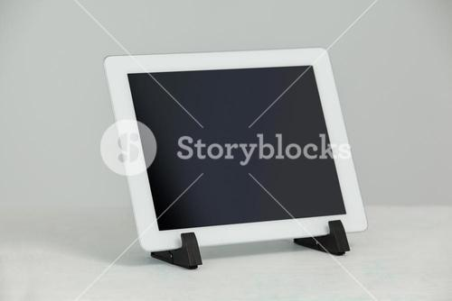 Digital tablet in stand