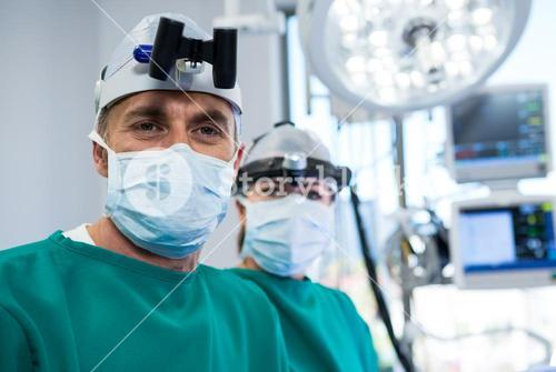 Surgeons in operation theater