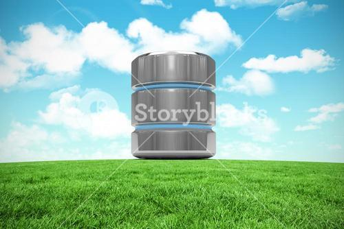 Composite image of database server icon