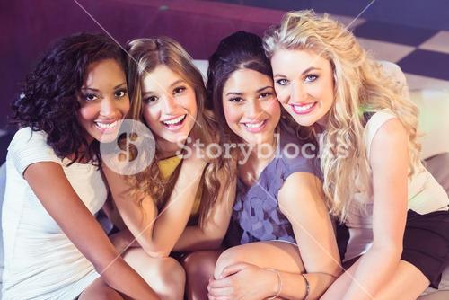 Attractive women in club