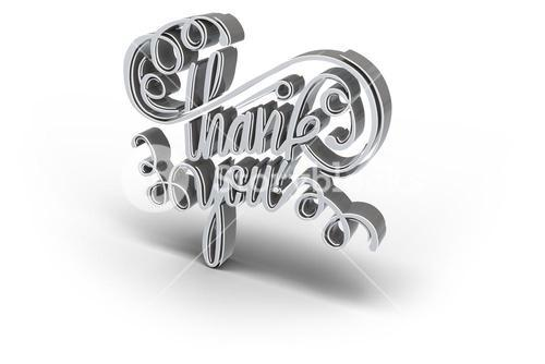 Digital image of thank you text