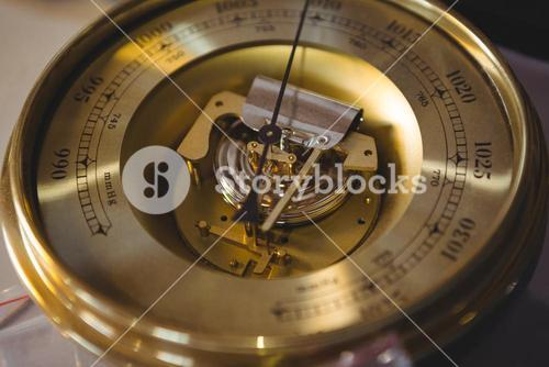 Close-up of vintage clock