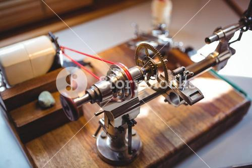 Watch repairing machine in a horology workshop