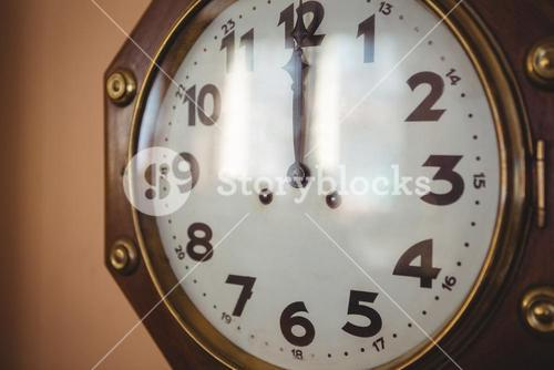Clock face in repair shop
