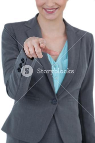 Businesswoman using digital screen