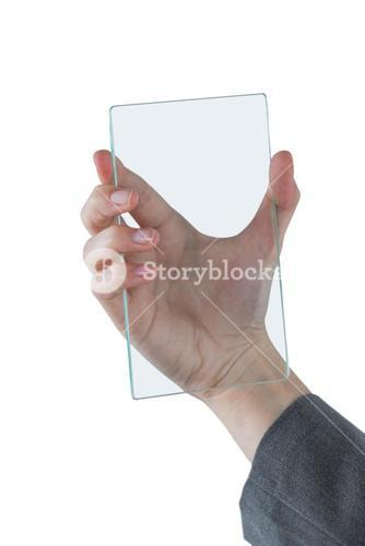 Hands pretending to hold mobile phone