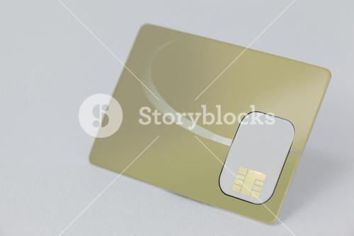 Smart card on white background