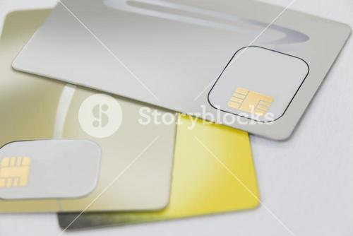 Electronic cards with micro chip