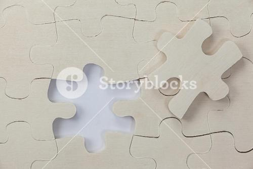 Plain white jigsaw puzzle