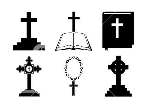Vector icons set for religion cross