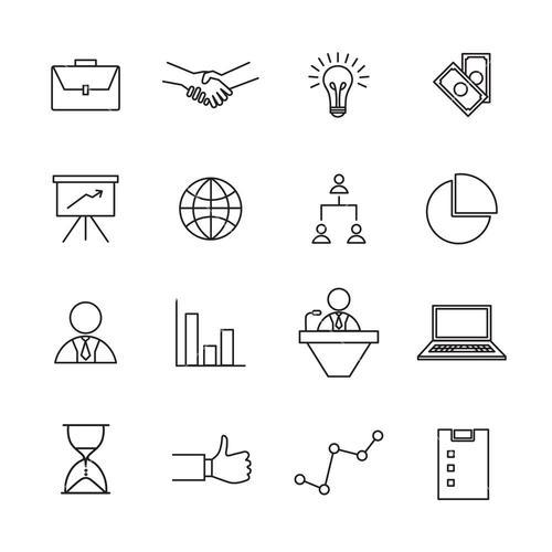 Vector set icons set for business