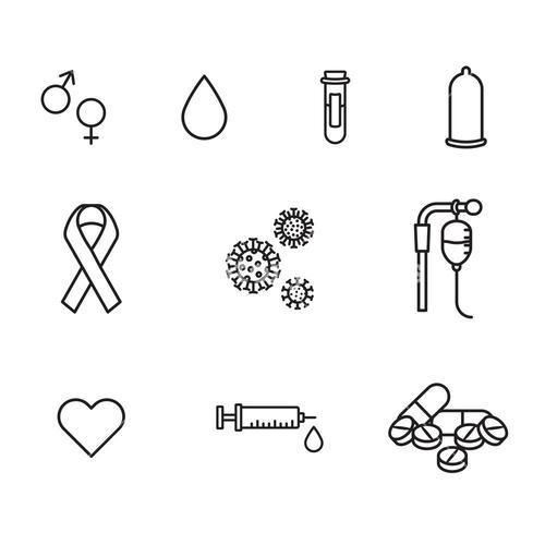 Vector icon set for medical