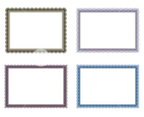 Vector icon set for frames