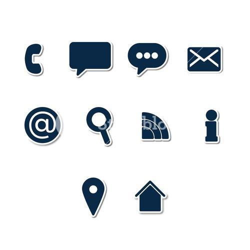 Vector icon set for communication
