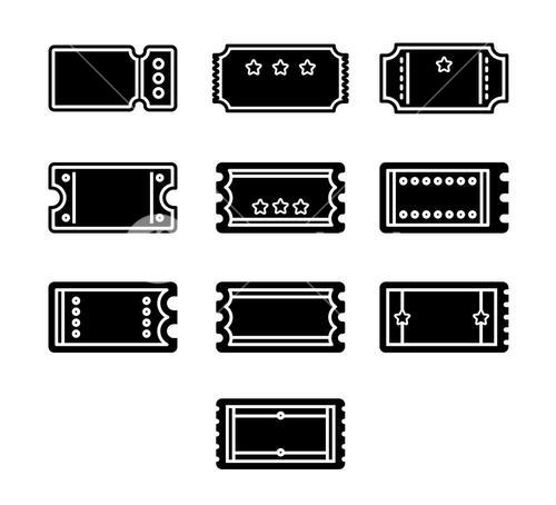 Vector icon set for label