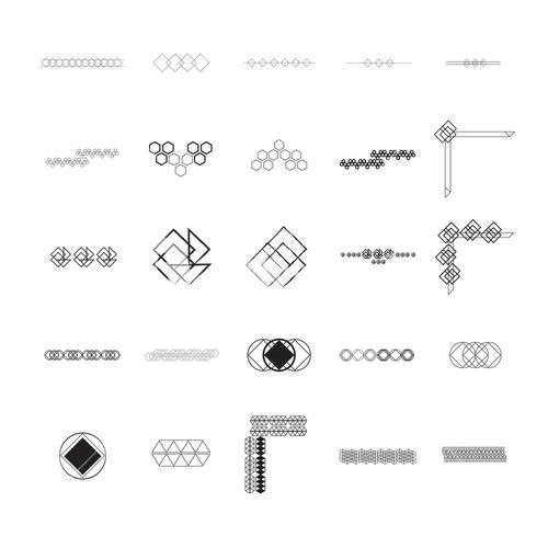 Vector icon set for pattern