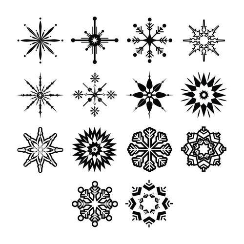 Vector icon set for snowflakes
