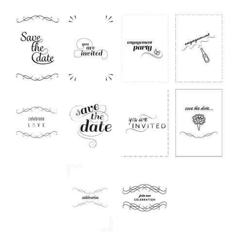 Vector icon set for invitation messages