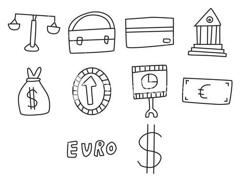 Vector icon set for banking and law