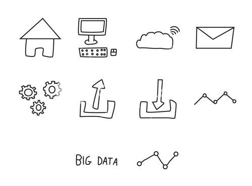 Vector icon set for business