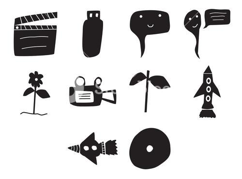 Vector icon set for cinema