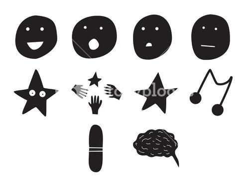Vector icon set for human emotions