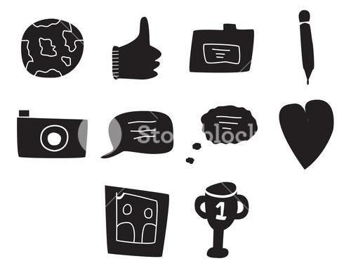 Vector icon set for internet and web icons
