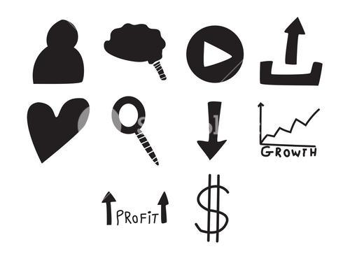 Vector icon set for finance
