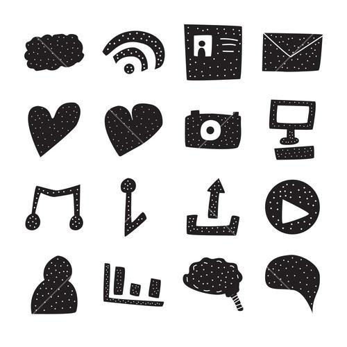 Vector icon set for internet and communication