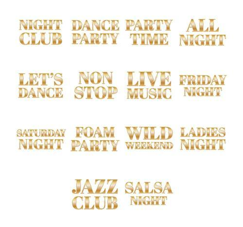 Vector icon set for party signs