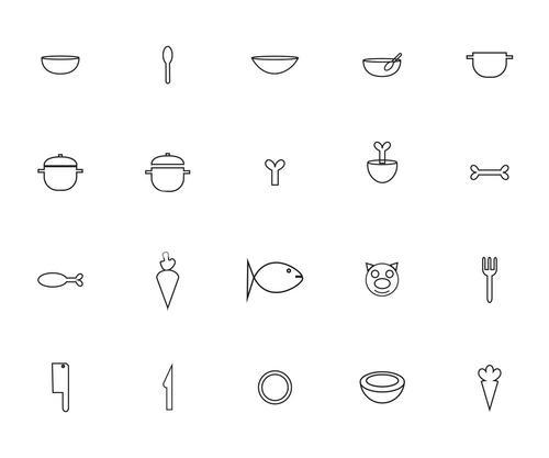 Vector icon set for cooking