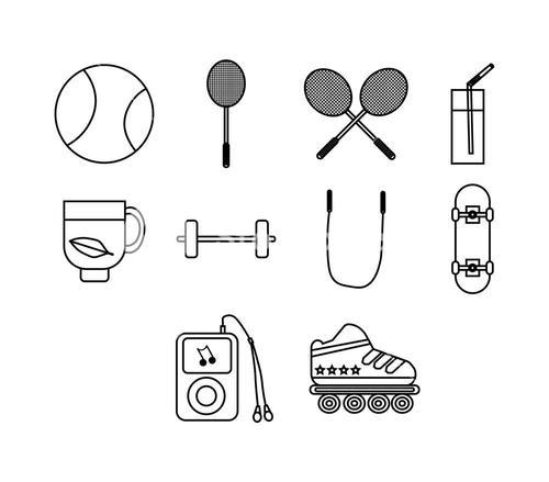 Vector icon set for sports