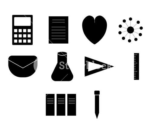 Vector icon set for science experiment