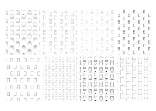 Vector icon set for seamless pattern