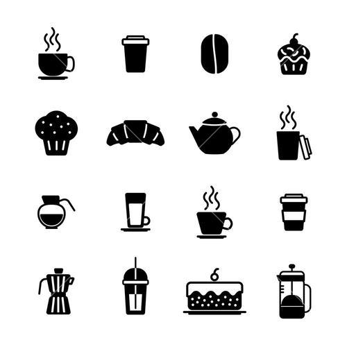 Vector icon set for breakfast