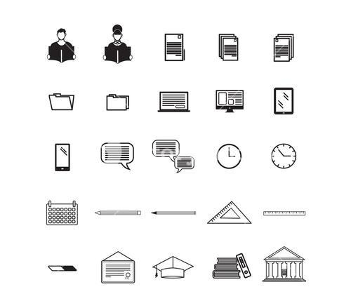 Various vector signs of education