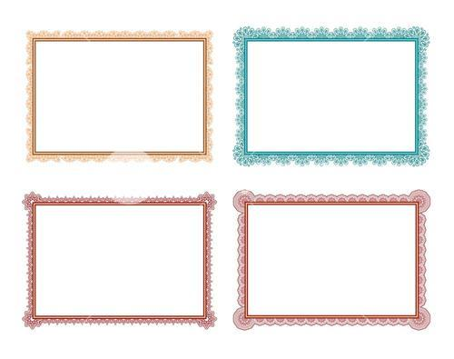 Vector icon set of frames