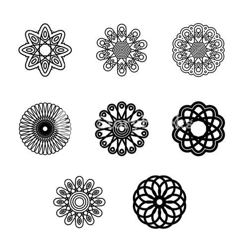 Vector icon set for designs
