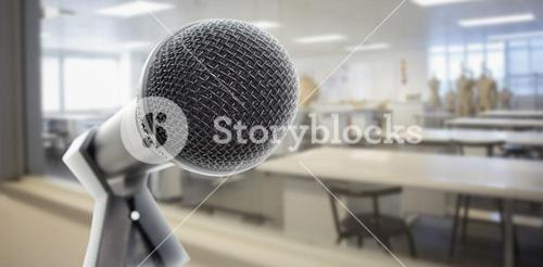 Microphone in classroom