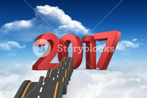 Composite image of bumpy road