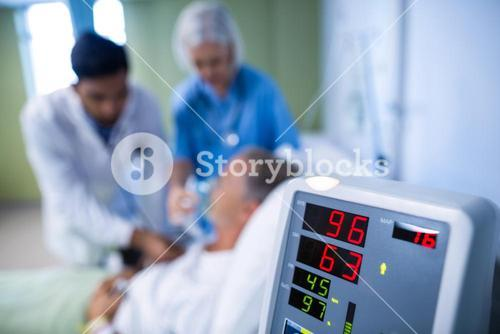 Heart rate monitor in hospital
