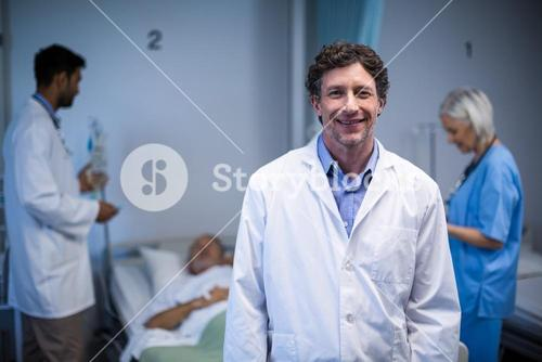 Portrait of doctor smiling in hospital
