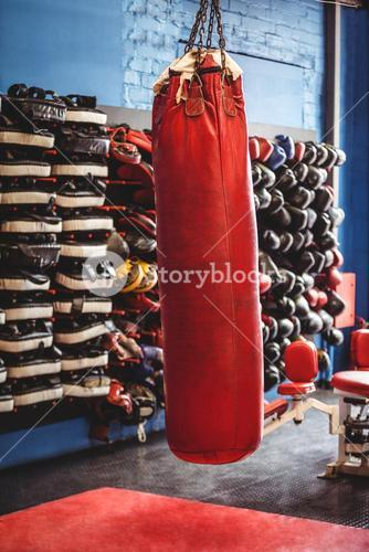 Punching bag hanging