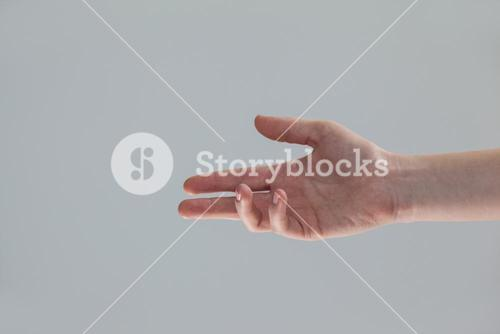 Hand of a woman making gestures