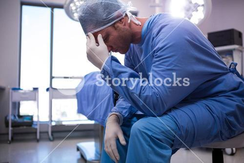 Male surgeon in operation room