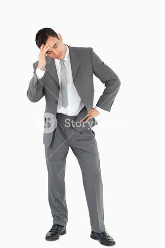 Businessman experiencing a setback