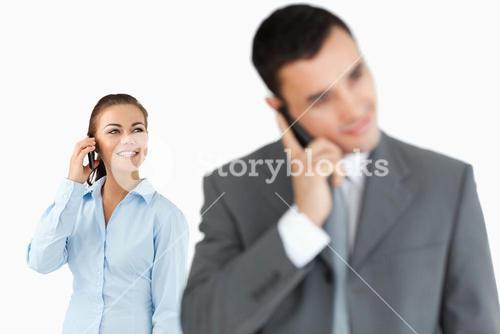 Business partners talking on the phone